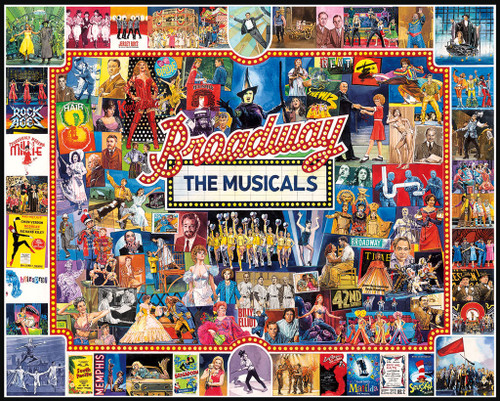 White Mountain Broadway 1000-piece Jigsaw Puzzle