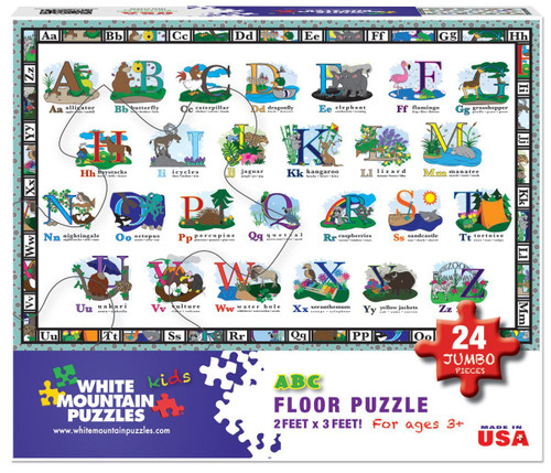 ABC Floor Puzzle - 24pc Jigsaw Puzzle By White Mountain (discon-22783)