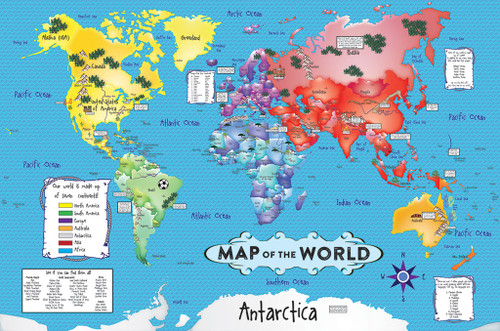 World Map Floor Puzzle - 36pc Jigsaw Puzzle By White Mountain