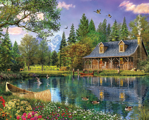 Mountain Cabin - 1000pc Jigsaw Puzzle by White Mountain