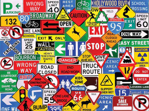 Road Signs - 550pc Jigsaw Puzzle by White Mountain