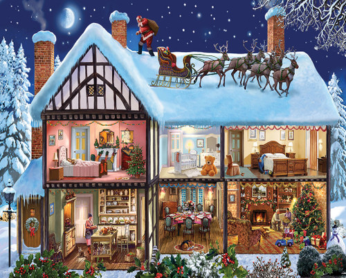 Christmas House - 1000pc Jigsaw Puzzle by White Mountain