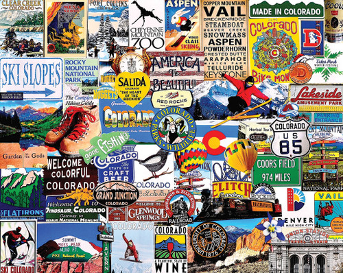 I Love Colorado - 1000pc Jigsaw Puzzle by White Mountain