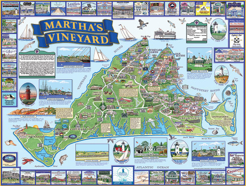 Martha's Vineyard - 1000pc Jigsaw Puzzle By White Mountain