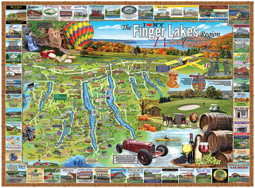 Finger Lakes - 1000pc Jigsaw Puzzle By White Mountain