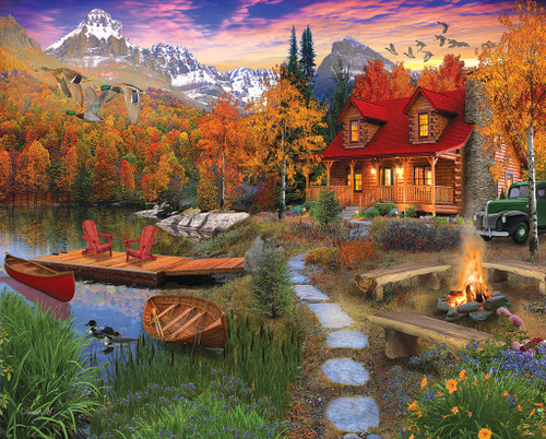 Cozy Cabin - 1000pc Jigsaw Puzzle By White Mountain
