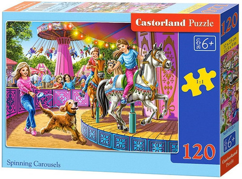 Spinning Carousels - 120pc Jigsaw Puzzle By Castorland (discon-24181)