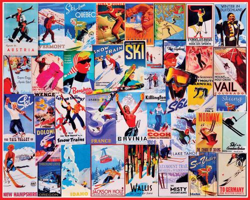 Jigsaw Puzzles - Ski Posters