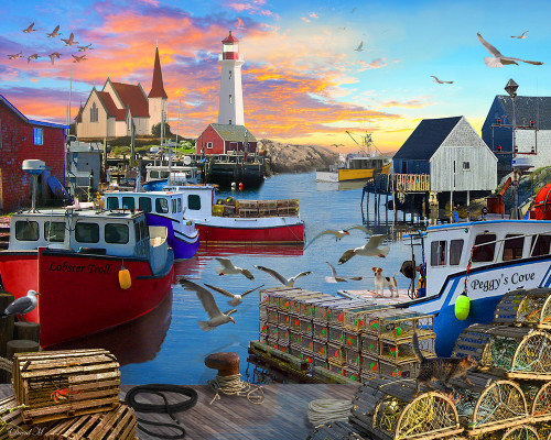 Fishing Cove - 1000pc Jigsaw Puzzle by Vermont Christmas Company