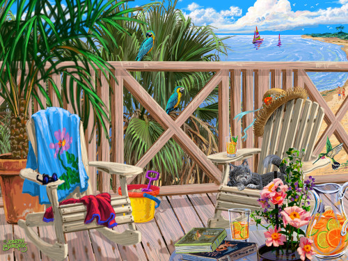 Peaceful Paradise - 550pc Jigsaw Puzzle by Vermont Christmas Company
