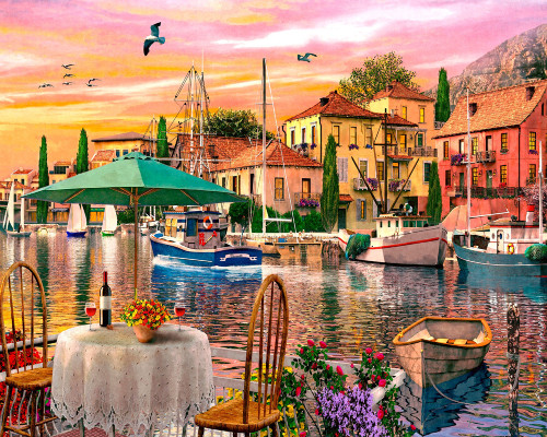 Sunset Harbour - 1000pc Jigsaw Puzzle by Vermont Christmas Company