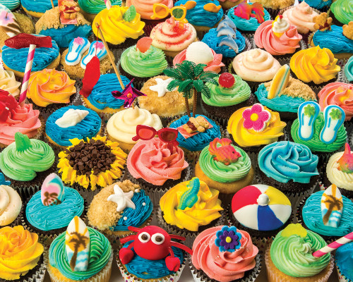 Summer Cupcakes - 1000pc Jigsaw Puzzle by Vermont Christmas Company