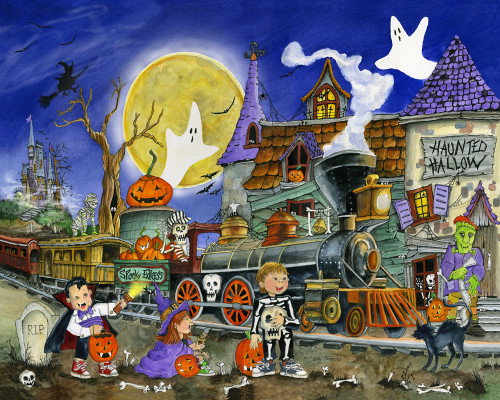 Spooky Express - 1000pc Jigsaw Puzzle by Vermont Christmas Company