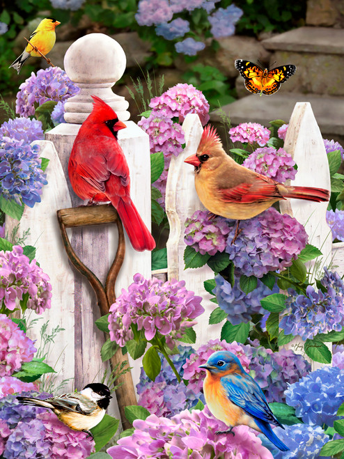 Cardinals & Friends - 550pc Jigsaw Puzzle by Vermont Christmas Company