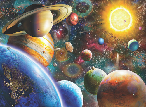 Planets in Space - 1000pc Jigsaw Puzzle by Anatolian