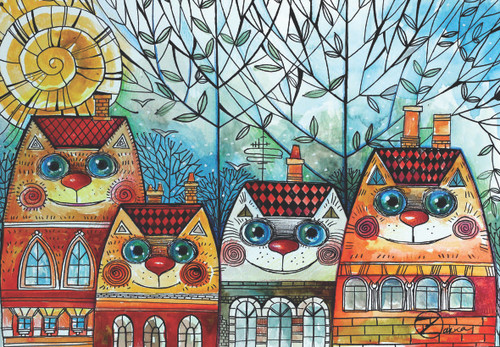 City Cat - 500pc Jigsaw Puzzle by Anatolian
