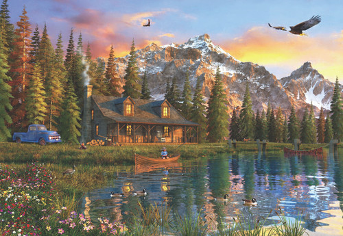 Oldlook Cabin - 2000pc Jigsaw Puzzle by Anatolian
