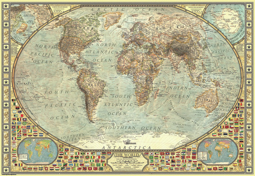 World Map - 2000pc Jigsaw Puzzle by Anatolian