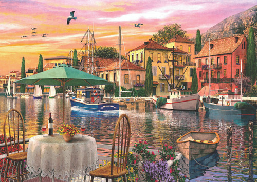 Sunset Harbour - 3000pc Jigsaw Puzzle by Anatolian