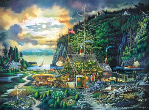 Charles Wysocki: Moonlight & Roses - 1000pc Jigsaw Puzzle By Buffalo Games