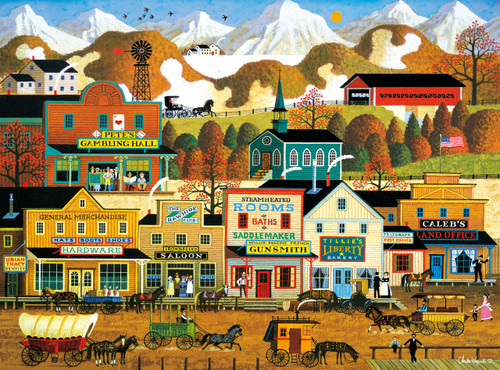 Charles Wysocki: Pete's Gambling Hall - 1000pc Jigsaw Puzzle By Buffalo Games