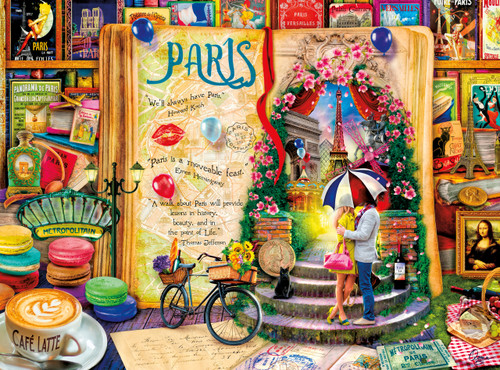 Aimee Stewart: Life Is An Open Book (Paris) - 1000pc Jigsaw Puzzle By Buffalo Games