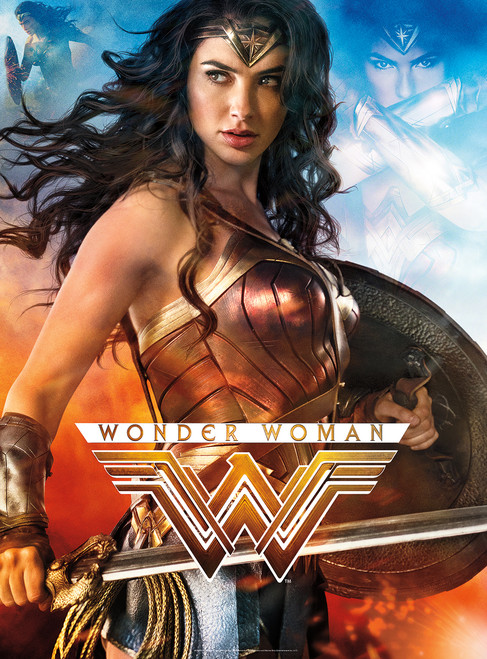Wonder Woman - 1000pc Glow-in-the-Dark Jigsaw Puzzle By Buffalo Games