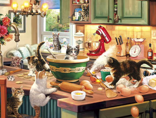Kitten Kitchen Capers - 750pc Jigsaw Puzzle By Buffalo Games