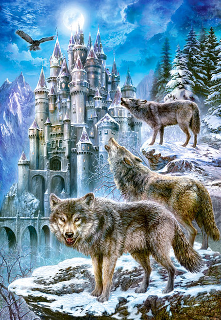 Jigsaw Puzzles - Wolves and Castle