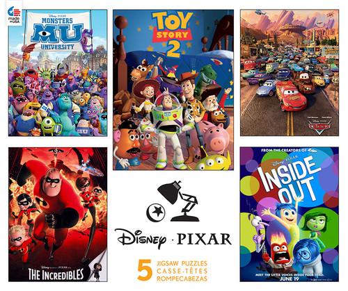 Disney: Pixar - 5 in 1 Jigsaw Puzzle by Ceaco