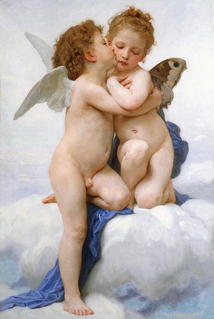 Cupid and Psyche as Children - 1000pc Jigsaw Puzzle by Tomax