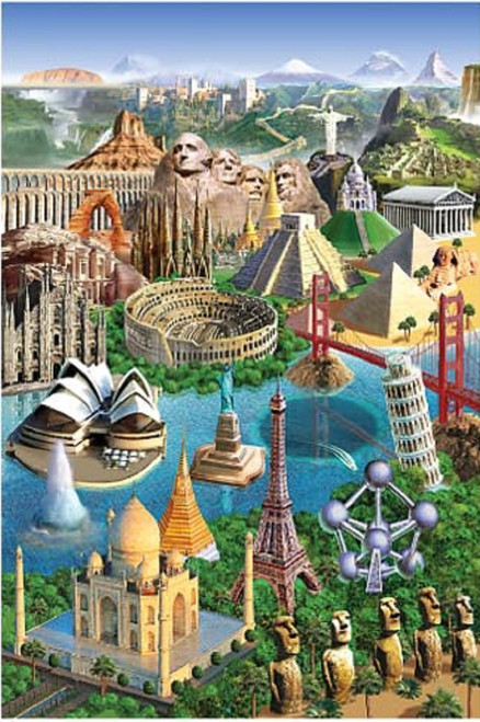 Wonders of the World - 1000pc Jigsaw Puzzle by Tomax
