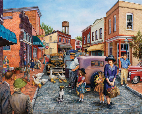 Duck Crossing - 1000pc Jigsaw Puzzle By White Mountain