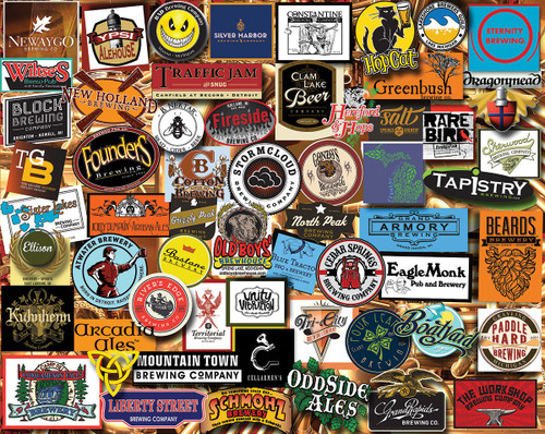 Michigan Beer - 1000pc Jigsaw Puzzle By White Mountain