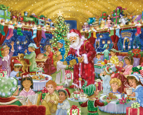 Rudolph Express - 1000pc Jigsaw Puzzle by Vermont Christmas Company