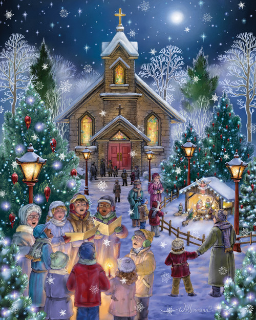 Midnight Mass - 1000pc Jigsaw Puzzle by Vermont Christmas Company