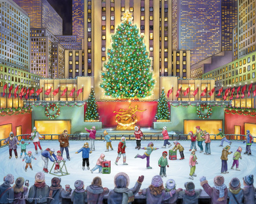 Rockefeller Center - 1000pc Jigsaw Puzzle by Vermont Christmas Company