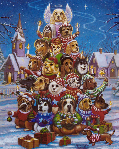 Canine Christmas Tree - 1000pc Jigsaw Puzzle by Vermont Christmas Company