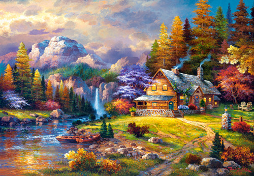 Mountain Hideaway - 1500pc Jigsaw Puzzle By Castorland