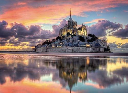 Le Magnifique Mont Saint-Michel - 1000pc Jigsaw Puzzle by Clementoni