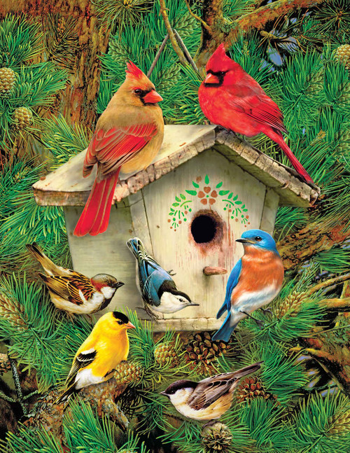 Feathered Retreat - 350pc Jigsaw Puzzle by Springbok