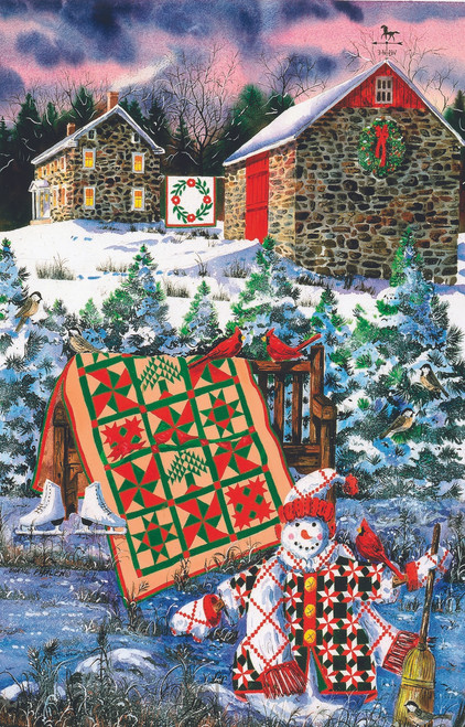 A Christmas Cheer Quilt - 1000pc Jigsaw Puzzle by Sunsout