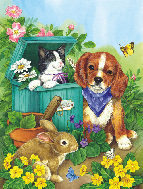 Precious Pets - 500pc Jigsaw Puzzle by Sunsout