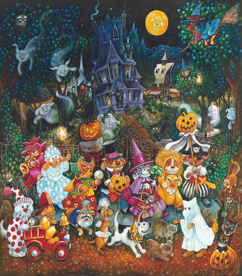 Trick or Treat Dogs - 300pc Jigsaw Puzzle by Sunsout