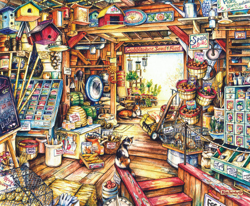 Seed and Feed - 1000pc Jigsaw Puzzle by Sunsout