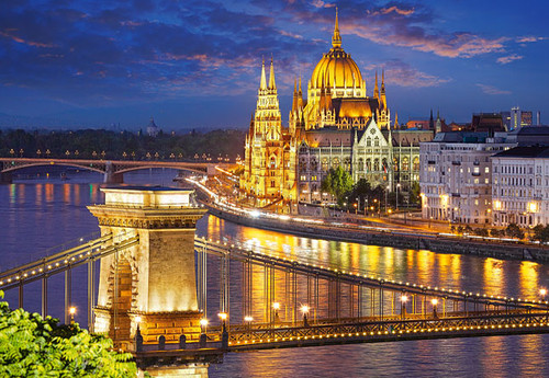 Jigsaw Puzzles - Budapest View at Dusk
