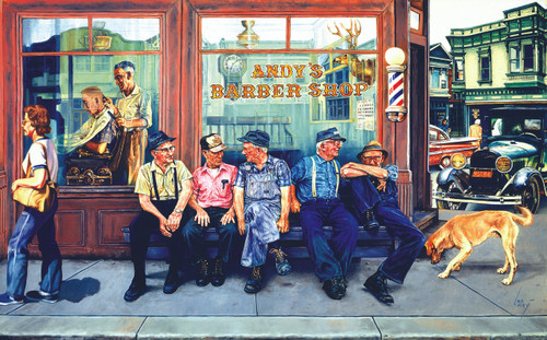 Andy's Barber Shop - 300pc Jigsaw Puzzle by Sunsout