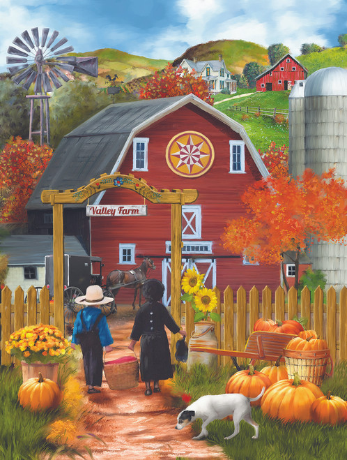 Valley Farm - 500pc Jigsaw Puzzle by Sunsout