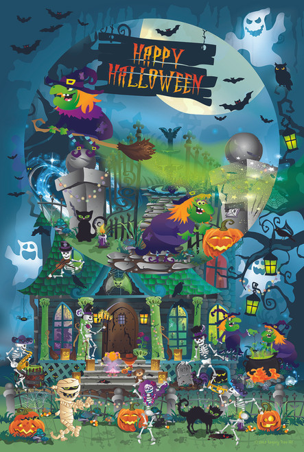 Trick or Treat for All Ages - 625pc Family Jigsaw Puzzle by Sunsout