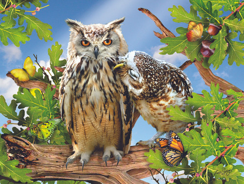 Owl Always Love You - 500pc Jigsaw Puzzle by Sunsout